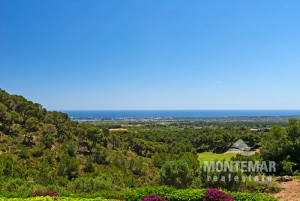 Porto Colom - Großzügige Finca mit traumhaftem Meerblick am Golfplatz Vall d'Or