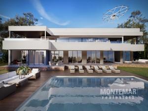 Spektakuläre Villa im Bau mit Meerblick und Spa in Sol de Mallorca