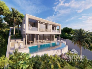 Puerto Portals - Neubauvilla mit beeindruckendem Pool und Meerblick