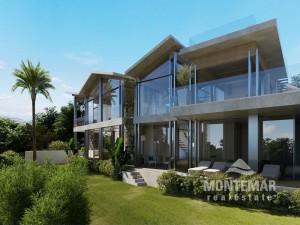 Imposantes Villa-Neubauprojekt mit Meerblick in Santa Ponsa
