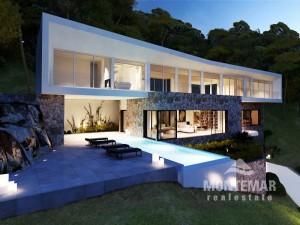 Villen-Neubauprojekt mit Meerblick in Sol de Mallorca