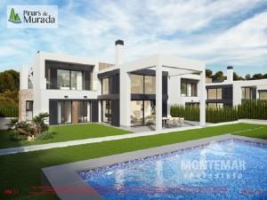 Neubau Villen nur wenige Meter vom Strand Cala Murada entfernt