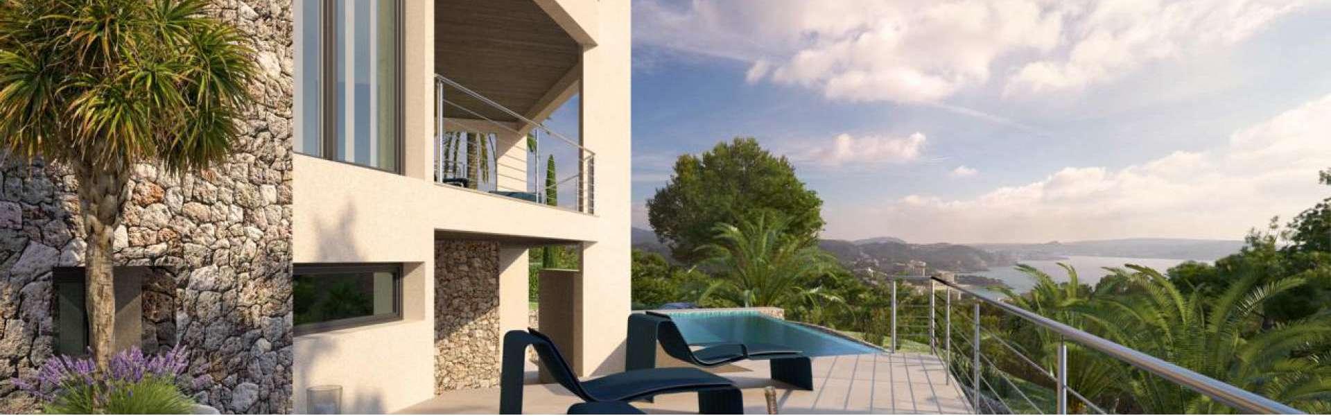Paguera - Großzügiges Baugrundstück/Projekt mit Blick