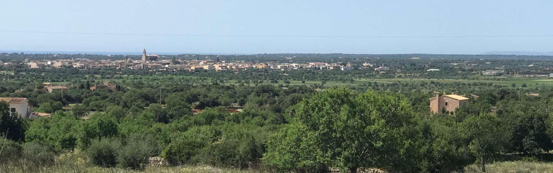 Grundstück mit Panorama-Meerblick - Santanyi