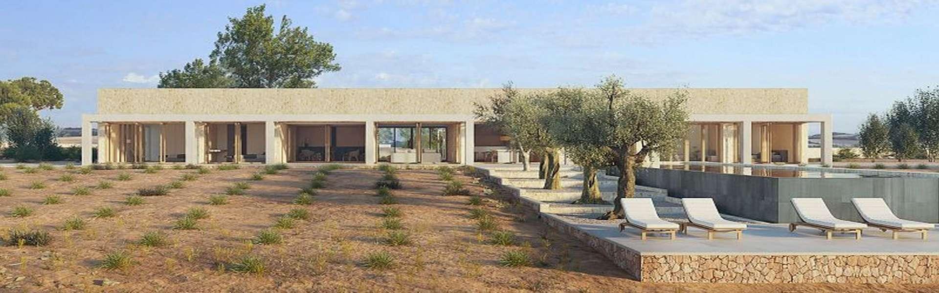 Finca-Grundstück mit eingereichtem Projekt zwischen Santanyi und Cas Concos