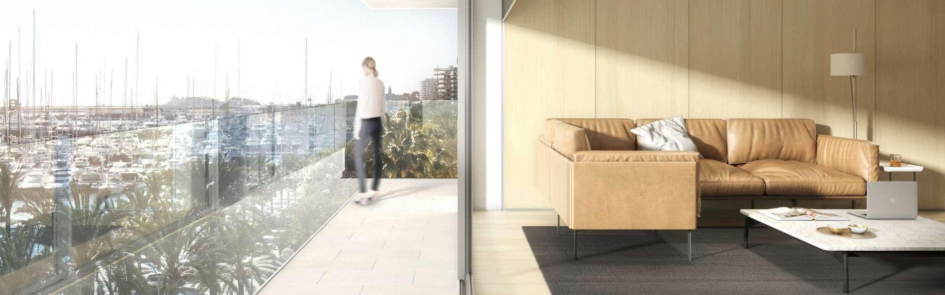 Palma - Luxuriöses Apartment mit modernem Design und spektakulärem Ausblick
