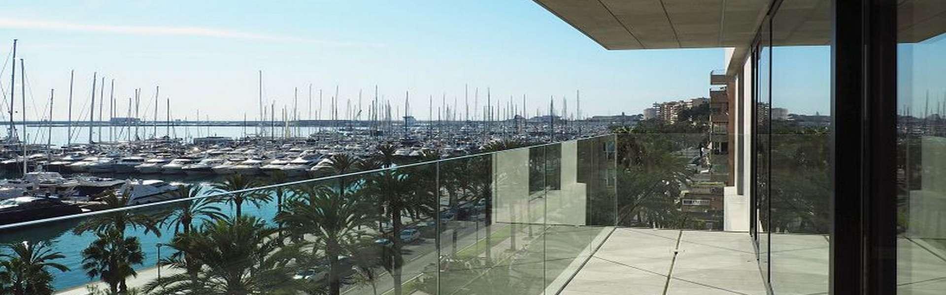 Palma/Paseo Marítimo - Luxuriöses Apartment mit modernem Design und spektakulärem Ausblick