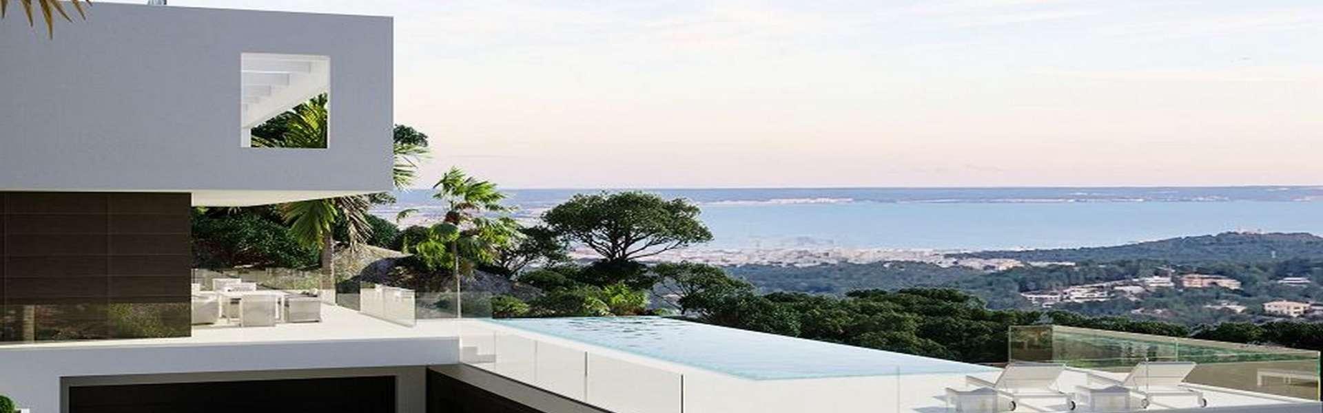 Palma/Son Vida - Designervilla mit Panoramameerblick