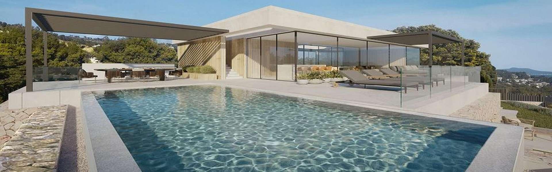 Costa d'en Blanes - Baugrundstück mit genehmigtem Projekt und ausgezeichnetem Meerblick