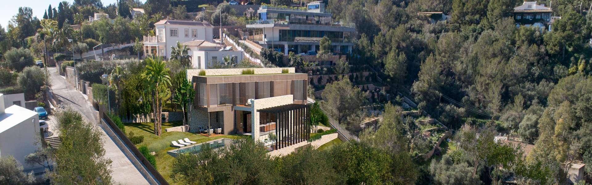 Palma/Génova - Luxuriöse Villa mit Blick auf die Bucht von Palma und die Serra de Tramuntana