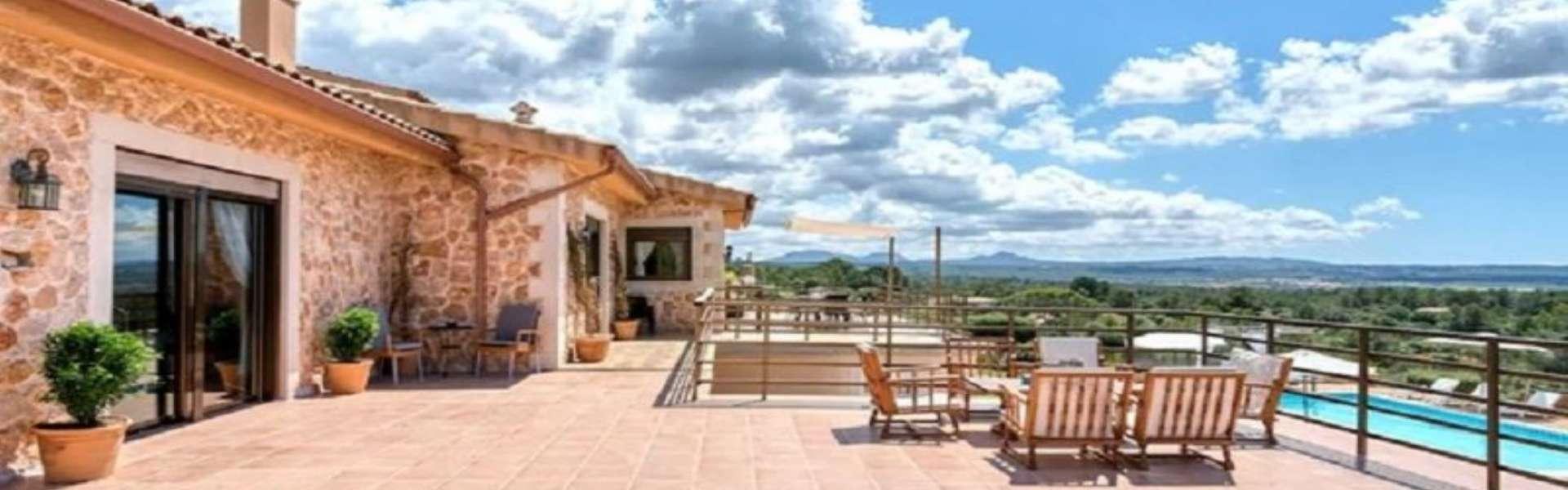 Palma/Es Puntiró - Finca mit Panoramablick und Ferienvermietungslizenz