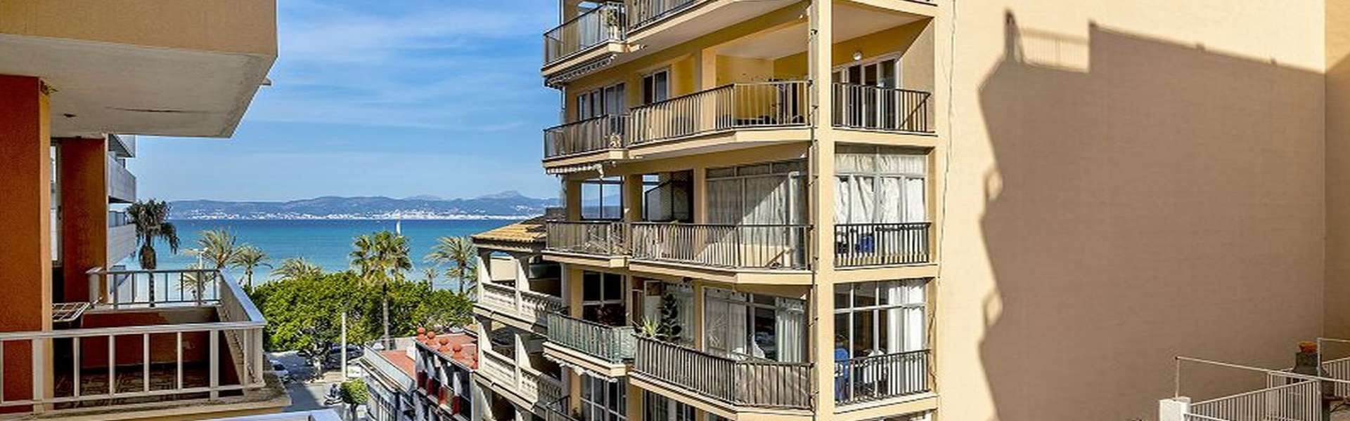 Palma/El Arenal - Apartment in TOP-Lage mit seitlichem Meerblick